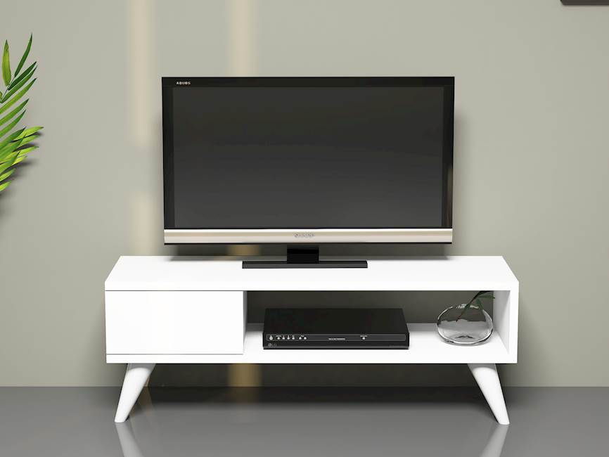Homemania Mobile TV Maya W90xD30xH33 cm Bianco
