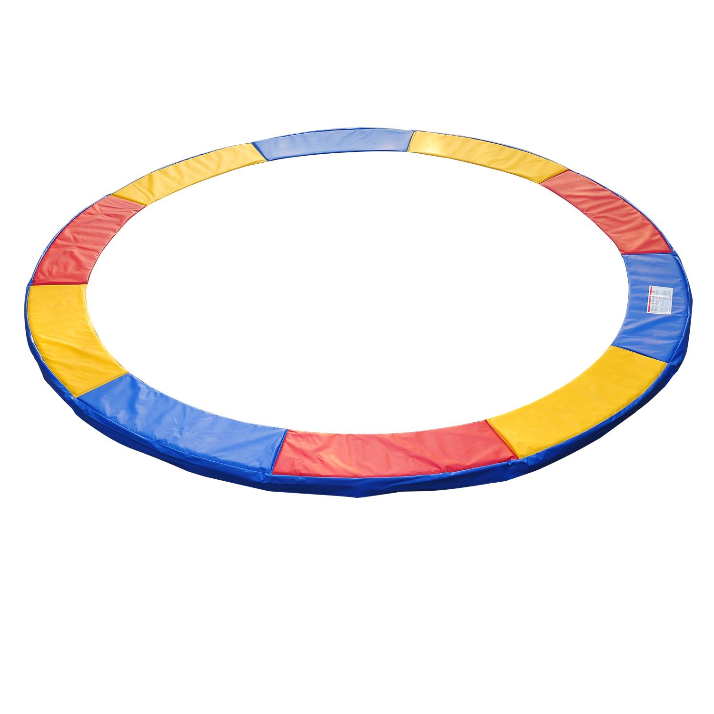 HomCom Copertura di Protezione per Trampolino Elastico Rosso Giallo e Blu Ø244cm