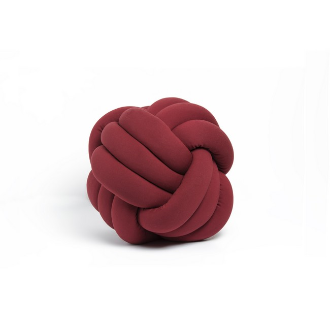 Homemania Cuscino Decorativo Knot in Cotone Bordeaux W30xD30xH35 cm