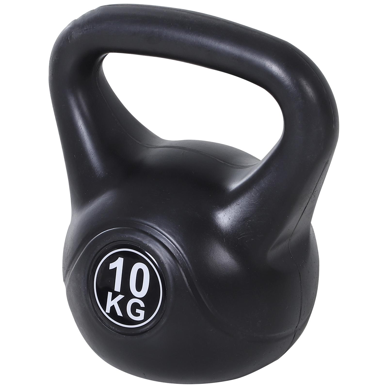 Homcom Kettlebell 10 kg per Allenamento Cross Training Nero