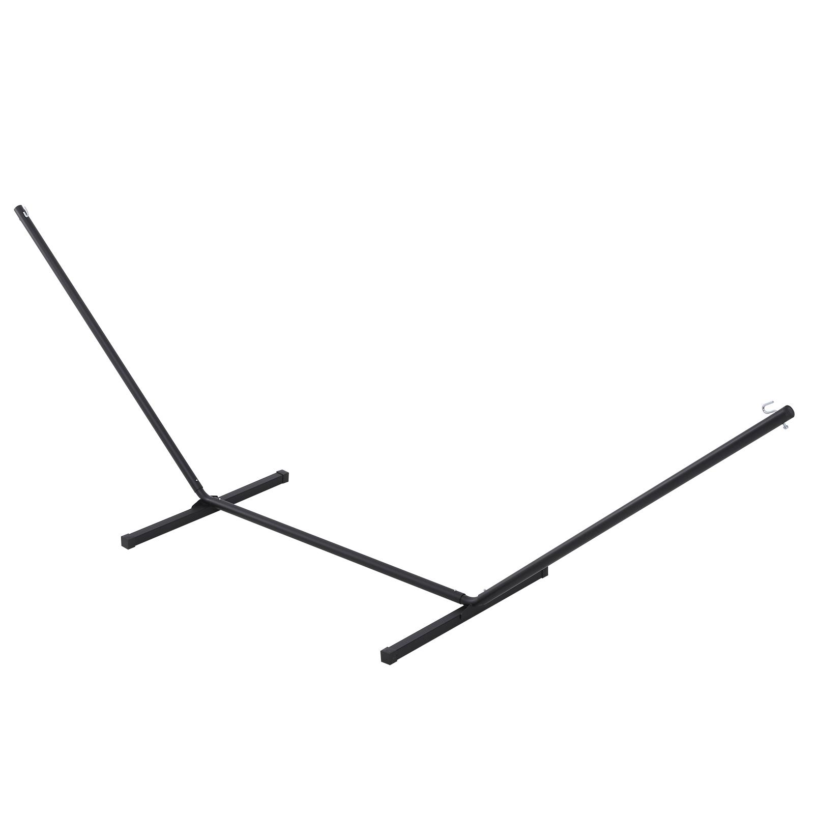 Outsunny Struttura Portante per Amaca Supporto Max. 150 Kg in Metallo, Nero, 360x92x115cm