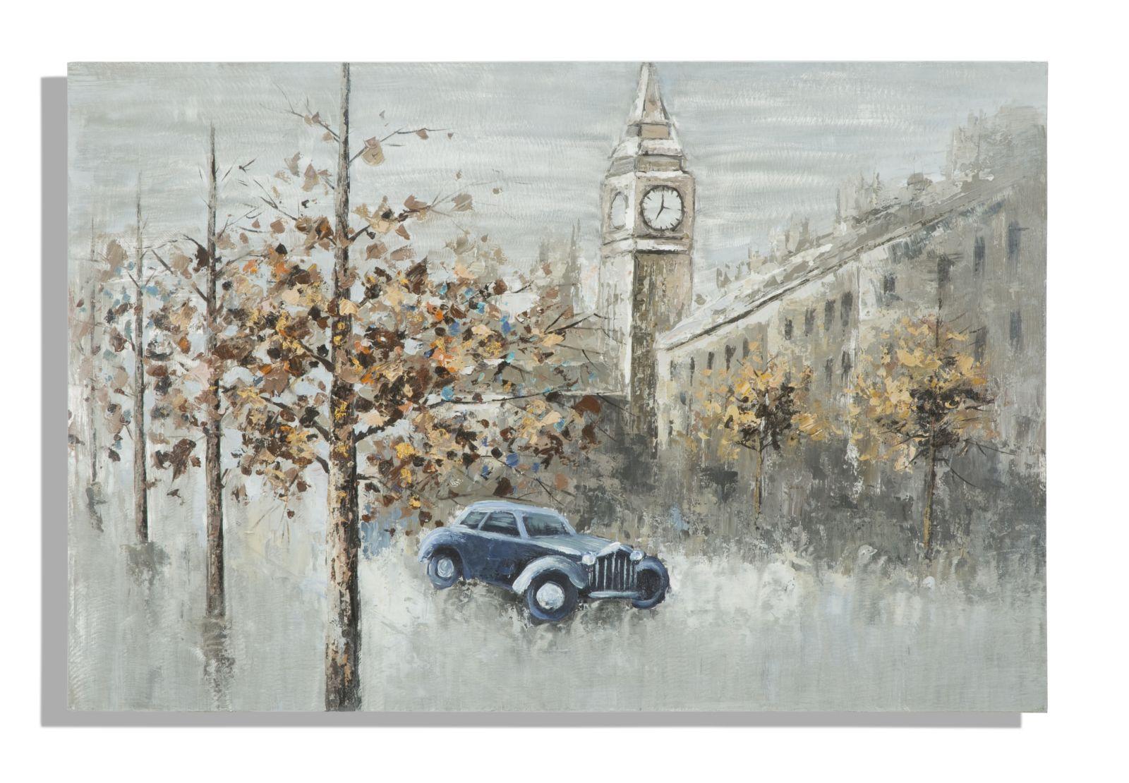 Dipinto Su Tela London Cm 120X3.7X80