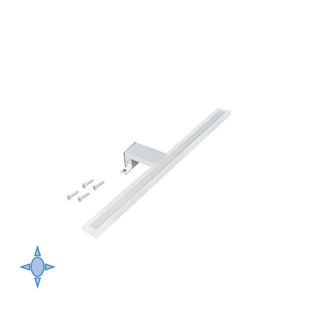 Emuca Applique LED Sagitarius L.300 mm luce fredda