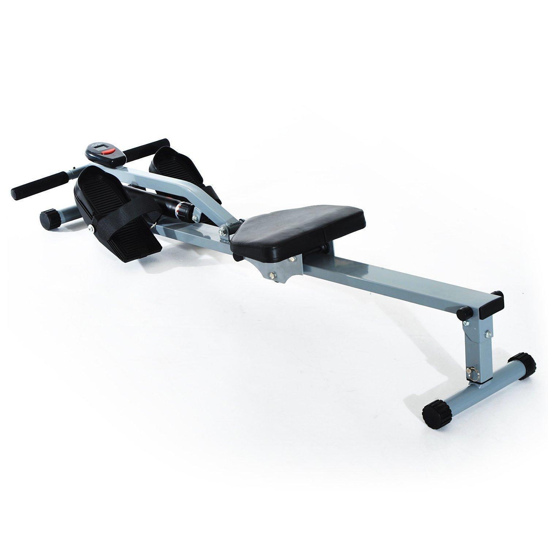 HomCom Vogatore Professionale per Fitness con Display, 130x67.5x67cm