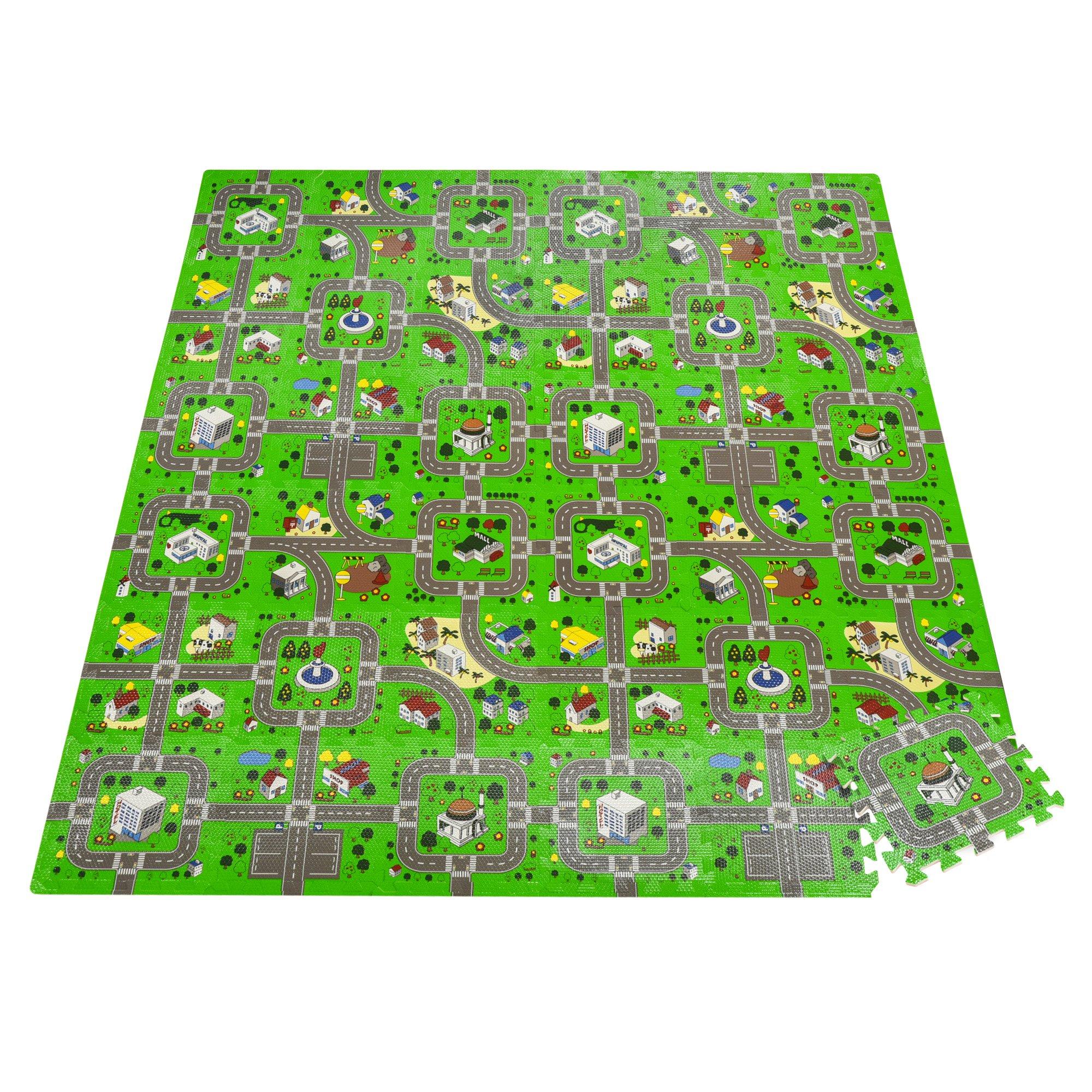 HOMCOM Tappeto Puzzle per Bambini in Schiuma EVA Antiscivolo Multicolore