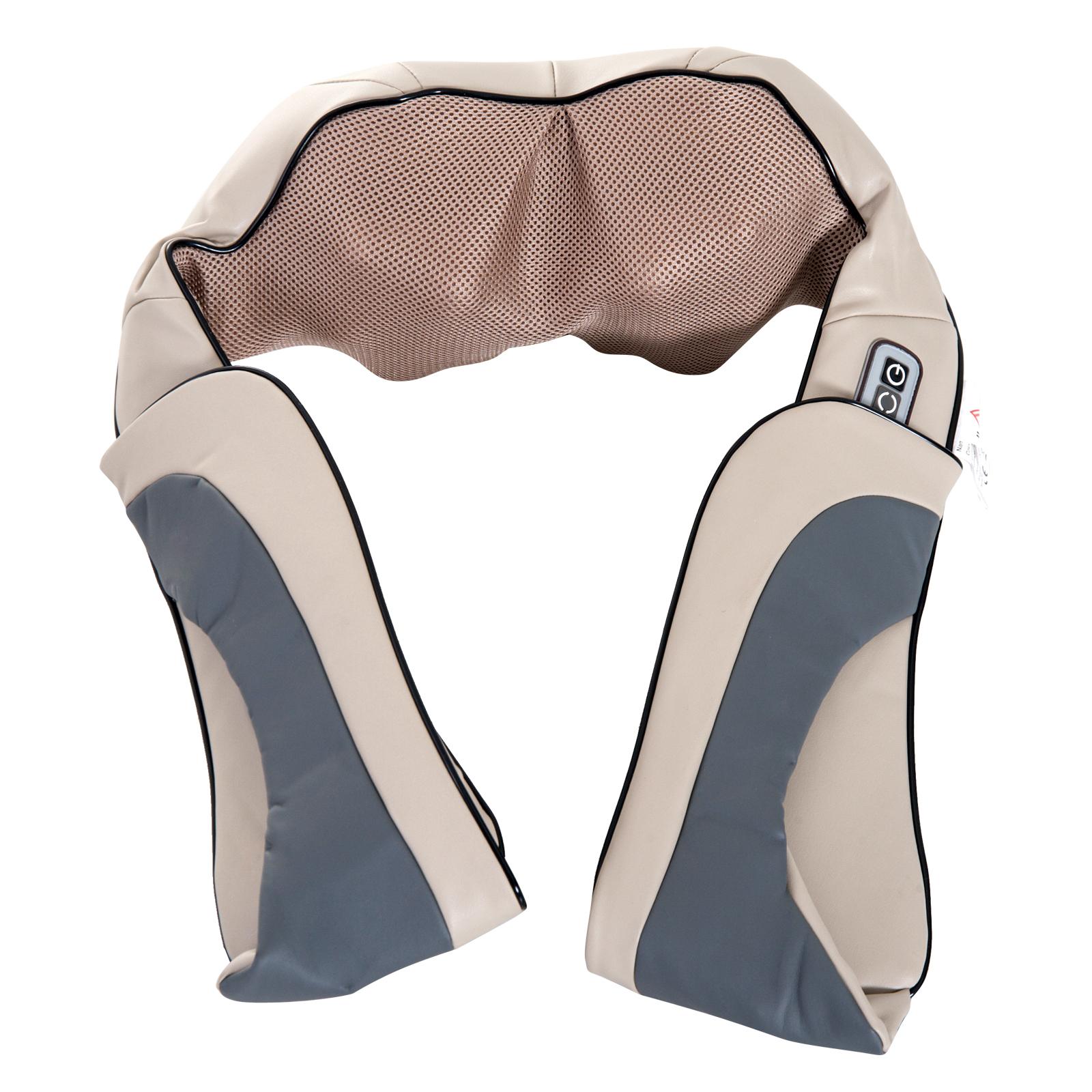 Homcom Massaggiatore Elettrico Ergonomico Cervicale con Riscaldamento