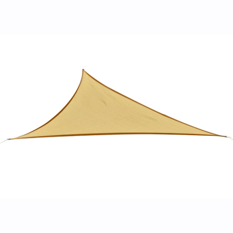 Outsunny Tendone parasole triangolare -Tenda a vela Anti UV - Beige 5x5x5m