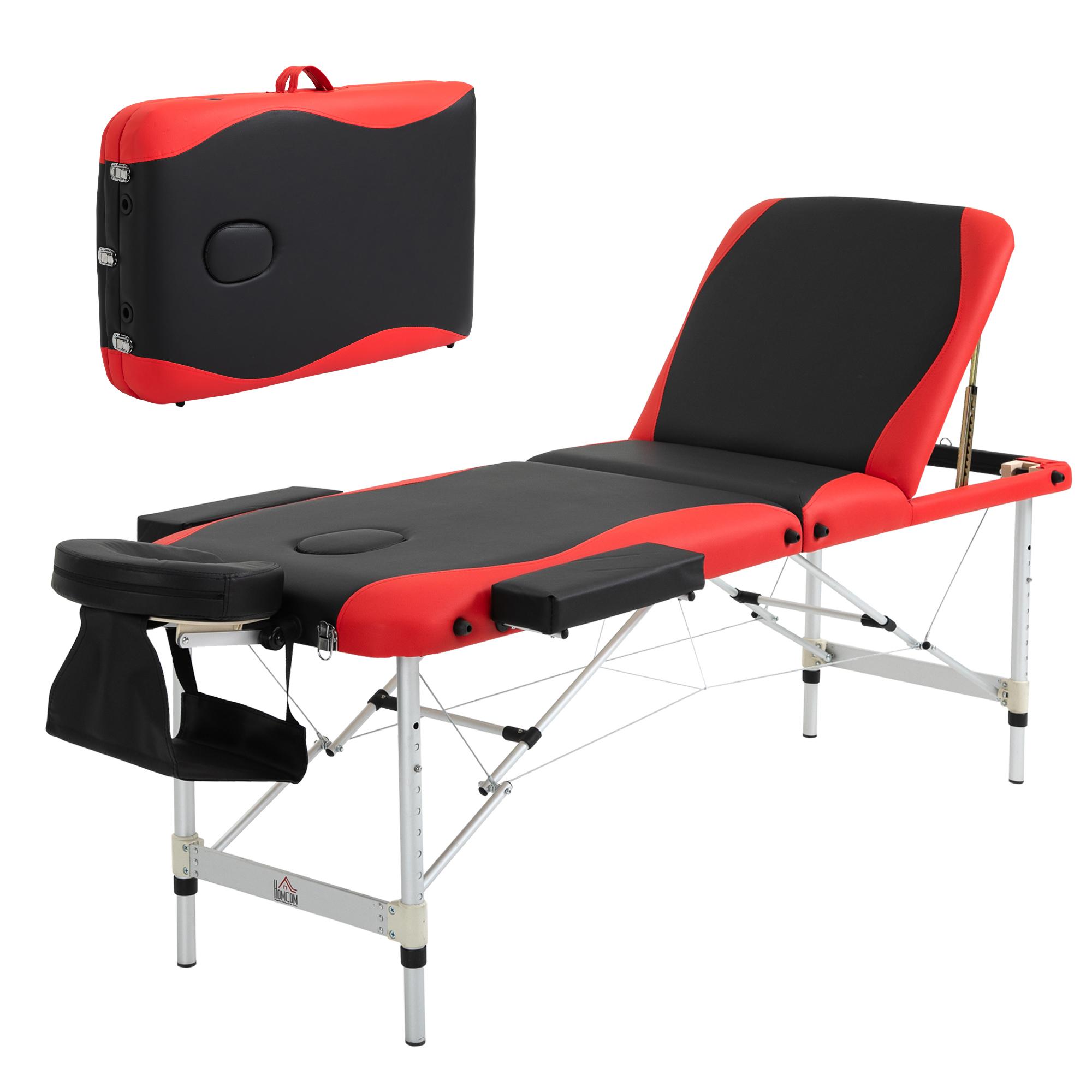 HOMCOM Lettino Massaggi Portatile, Pieghevole e Professionale in Alluminio