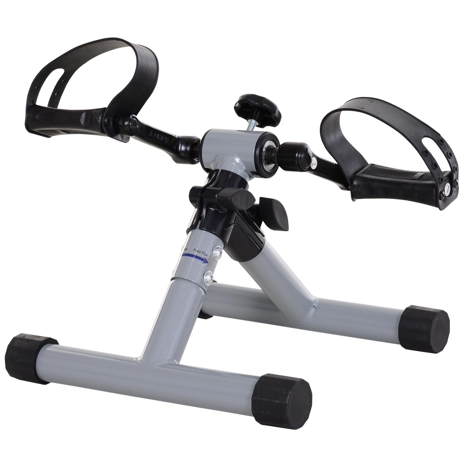HOMCOM Mini Cyclette Pedaliera per Gambe e Braccia Fitness a Casa Livelli Regolabili