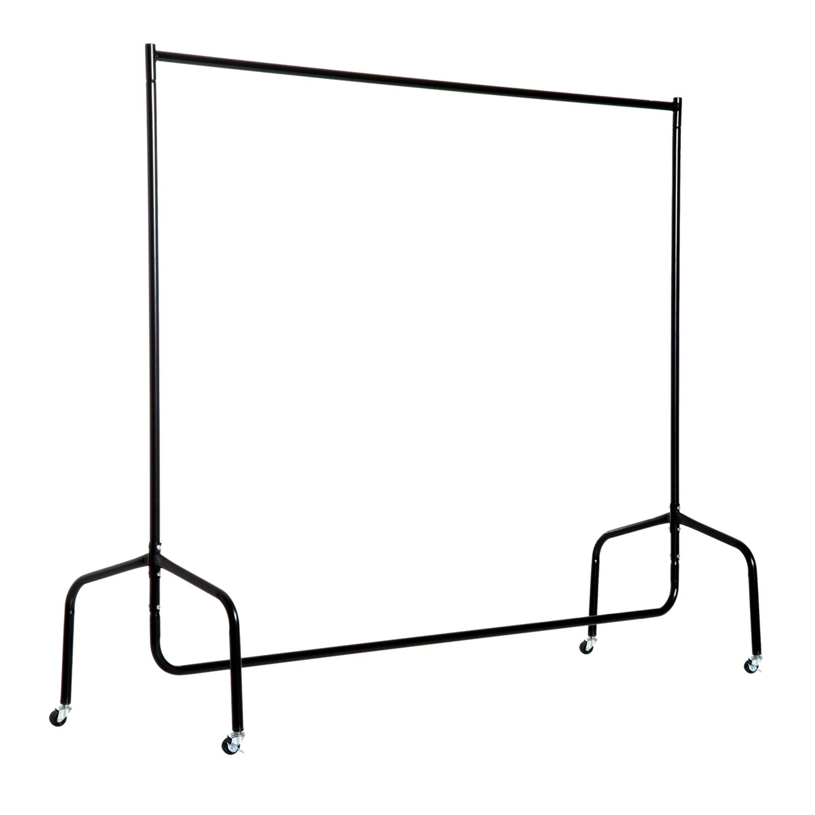 HomCom Stender Rella Porta Abiti con 4 Rotelle in Ferro, 150x60x150cm