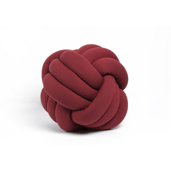 Homemania Cuscino Decorativo Knot in Cotone Bordeaux W45xD45xH42 cm