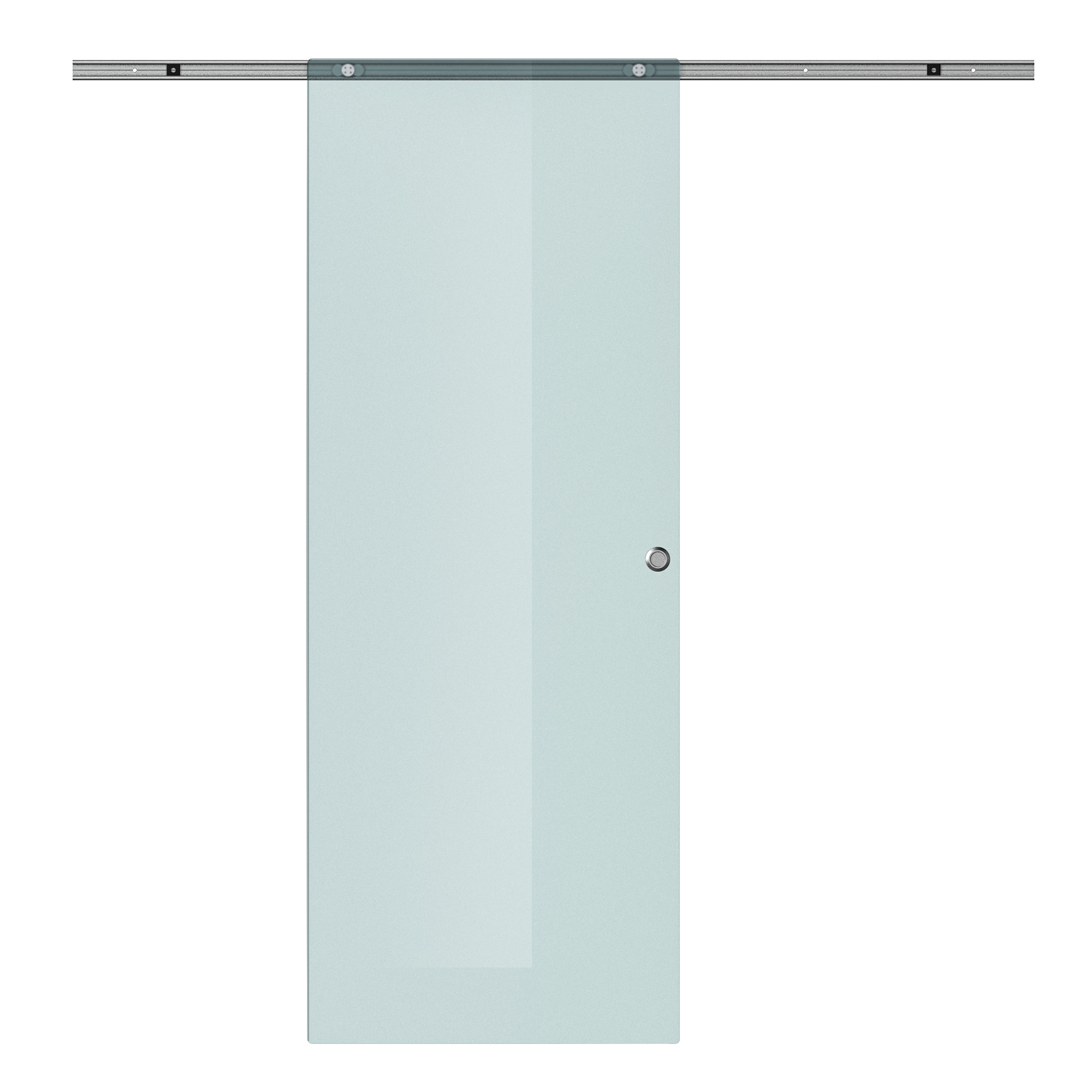 Homcom Porta Scorrevole in Vetro Smerigliato e Binario in Alluminio, 77.5x205cm