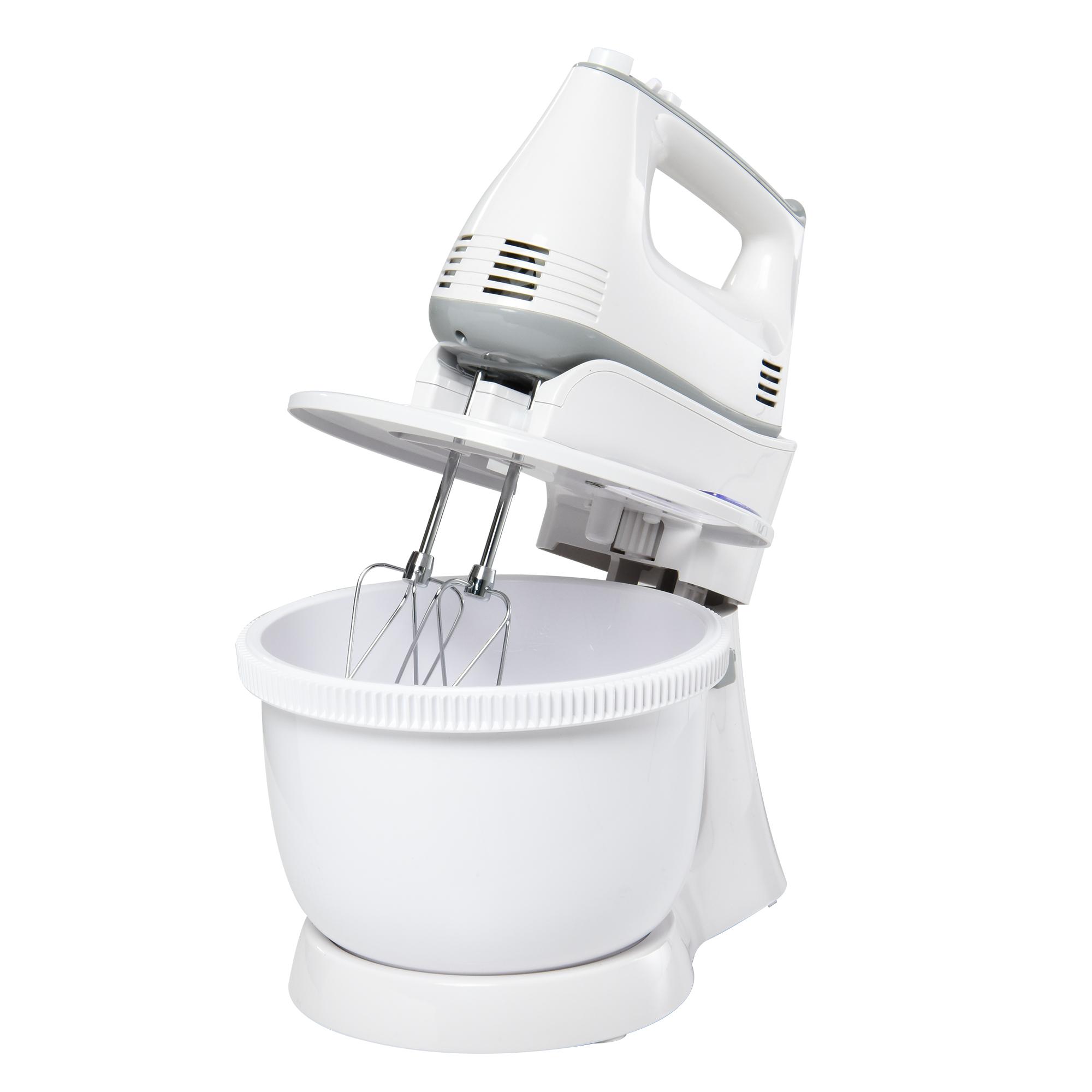 Image of HOMCOM Impastatrice Planetaria Mixer Elettrico a Mano 6 Velocità, Ciotola 3.4L
