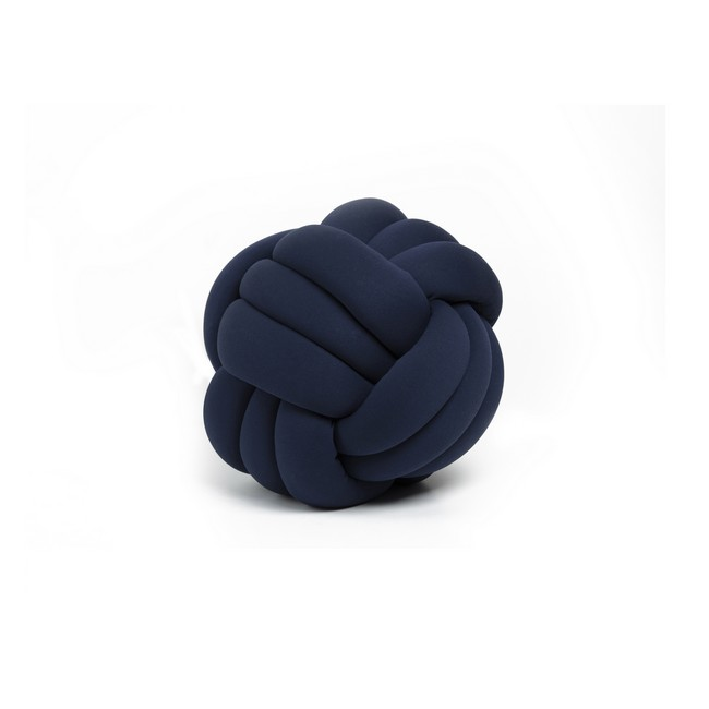 Homemania Cuscino Decorativo Knot in Cotone Blu Indaco W30xD30xH35 cm