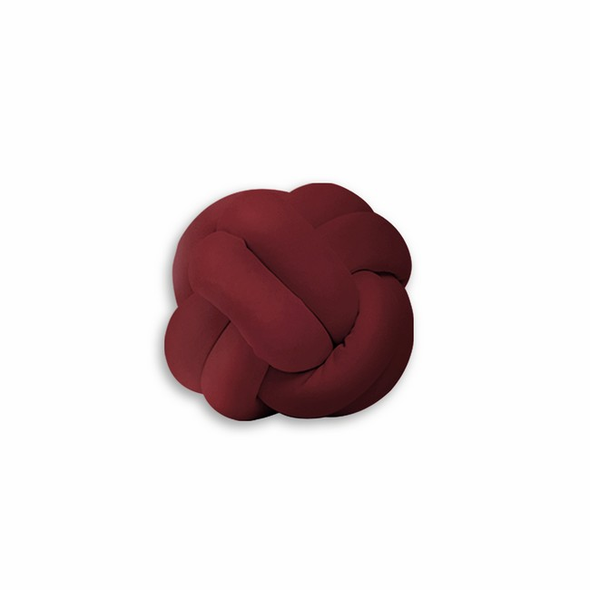 Homemania Cuscino Decorativo Knot in Cotone Bordeaux W25xD25xH30 cm