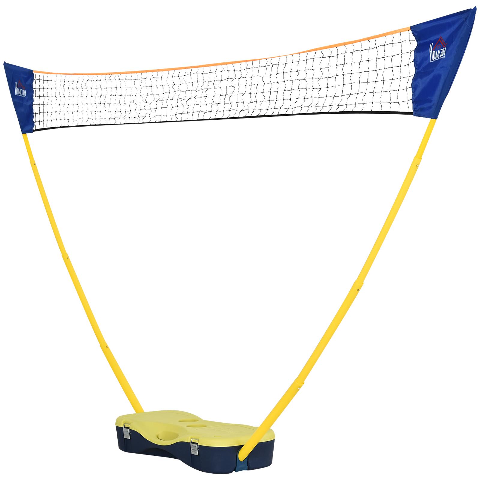 Homcom Set da Badminton Pieghevole per Adulti e Bambini da Interno ed Esterno
