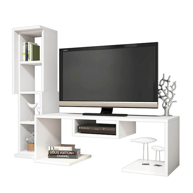 Homemania Mobile TV Bacio W126,8xD35xH103,6 cm Bianco