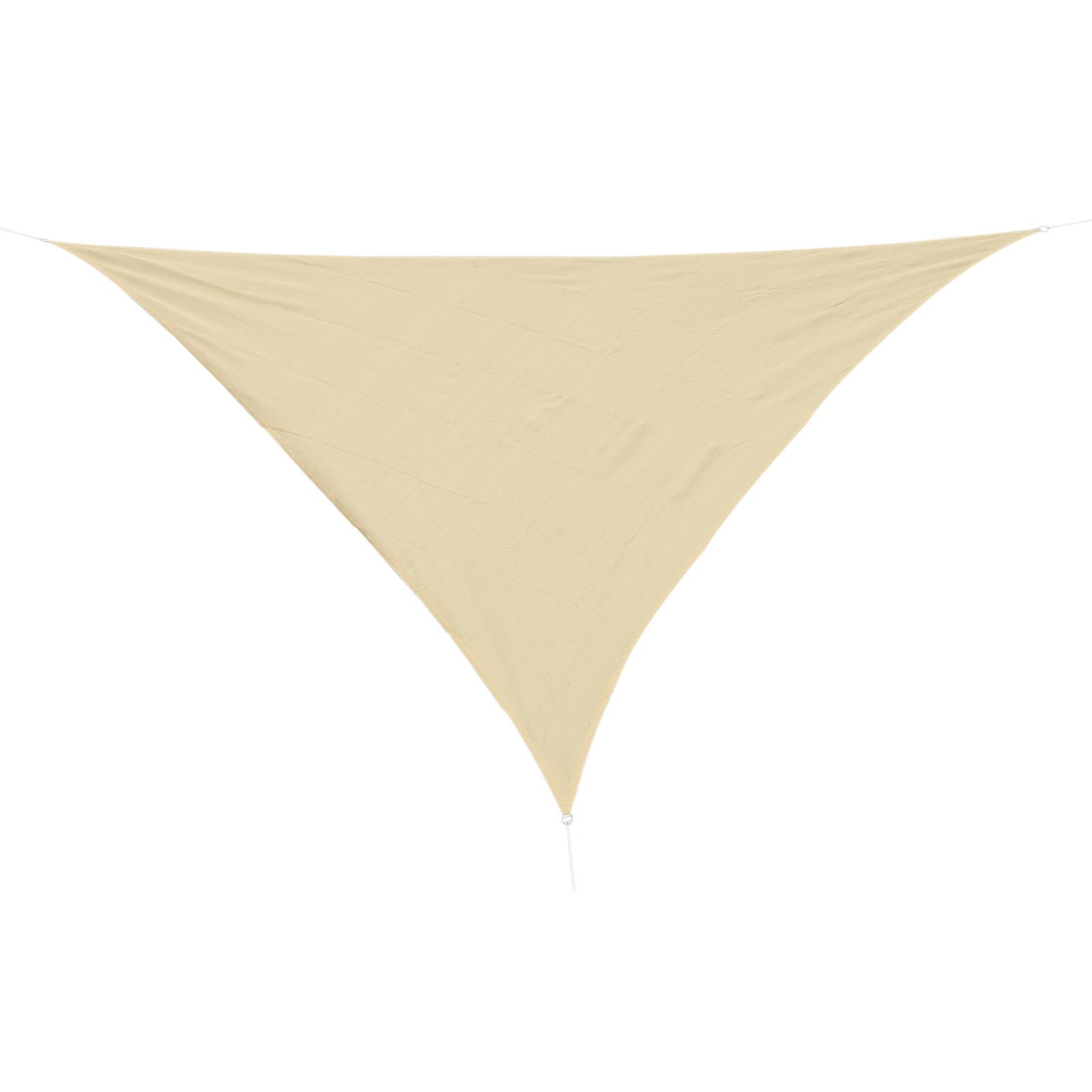 Outsunny Tenda da sole triangolare in HDPE, Sabbia, 3x3x3m