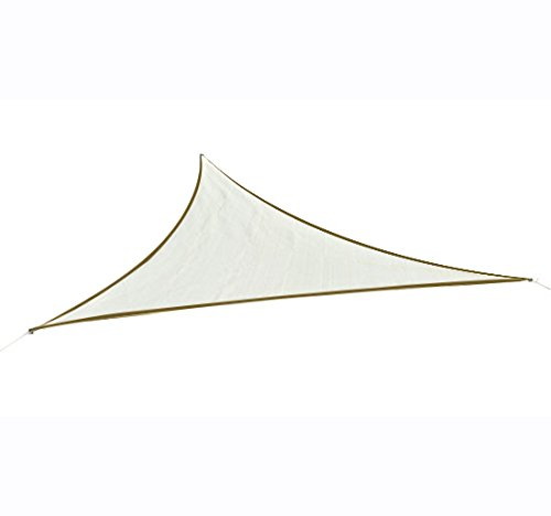 Outsunny Tenda da sole triangolare in HDPE, crema, 6x6x6m
